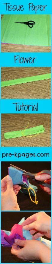Tissue paper flower easy DIY tutorial