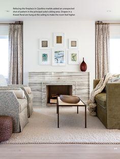 Stunning fireplace