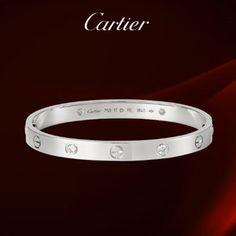 Cartier 1 Grade Love Bracelet White Gold With 4 Diamonds Original Box