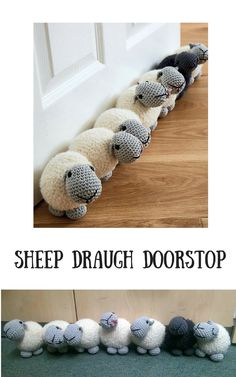Perfect project to show up my crochet skills, this super cute sheep draught doorstop will go great on my craft room door. #ad #crochetpattern #amigurumipattern #crochetsheep