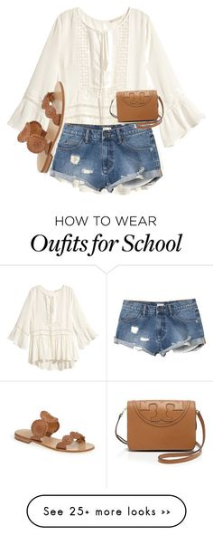 """3rd week of school"" by skmorris18 on Polyvore featuring H&M, RVCA, Jack Rogers and Tory Burch"