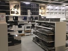 IKEA Alcorcon, Madrid, home organization by brand and color