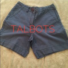 Talbots petites size 2 gray shorts Talbots petites, stretch, size 2- great modest length- Talbots Shorts