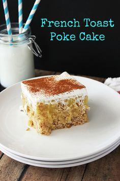 French Toast Poke Cake | beyondfrosting.com | #pokecake