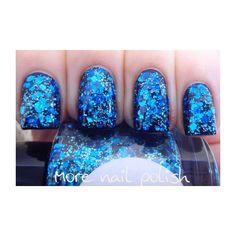 Beneath the Blue Hand made custom nail polish ($9) ❤ liked on Polyvore featuring beauty products, nail care, nail polish, nails, makeup, beauty, unhas and shiny nail polish