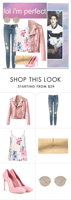 """""""""""Know Yourself""""~Suho"""" by niamho99 ❤ liked on Polyvore featuring Frame Denim, Dorothy Perkins, Nina Ricci, Miu Miu and Gucci"""