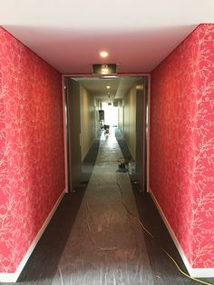 Commercial fit out. Red Wallpaper, Commercial, Stairs, Fit, Floral, Home Decor, Stairway, Decoration Home, Shape