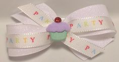 Dog hair bow grooming ribbon ear bow top knot  by CreateAlley, $5.99