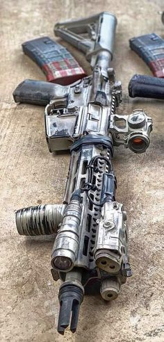 Build Your Sick Cool Custom Assault Rifle Firearm With This Web Interactive Firearm Builder with ALL the Industry Parts - See it yourself before you buy any parts Custom Ar15, Custom Guns, Airsoft Guns, Weapons Guns, Guns And Ammo, Armas Airsoft, Armas Wallpaper, Tactical Operator, Ar Rifle