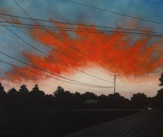 Oil Painting  Twilight Sunset  Ablaze by Faith by fpattersonstudio, $790.00