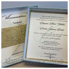 Box Wedding Invitation!  Colors can be customized!  Email for prices at info@theinviteonline.com