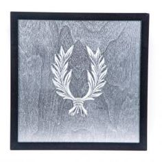 Handmade Wall or Table Laurel Wreath Silver Patinated on Silver Background, Framed 3d Wall Art, Wall Art Decor, How To Make Ornaments, How To Make Wreaths, Artwork Display, Framed Artwork, Fabric Gift Bags, Laurel Wreath, Handmade Decorations