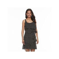 Women's Bethany Tiered Polka-Dot Shift Dress, Size: 10, Oxford