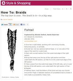 Swink's own Alanda explains how to create the Fishtail braid look. #hair