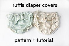 belly + baby // DIY ruffle diaper covers pattern + tutorial - see kate sew how to Sewing Lessons, Sewing Class, Sewing Basics, Sewing Hacks, Sewing Tutorials, Basic Sewing, Sewing Tips, Sewing Projects, Sewing Patterns Free