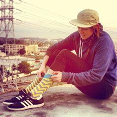 Discovering Los Angeles is more fun in my LYF Socks.