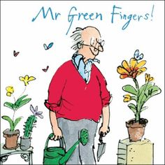 Buy Woodmansterne Gardening Special Grandad Father's Day Card from our Greetings Cards range at John Lewis & Partners. Vintage Illustration Art, Character Illustration, Roald Dahl Characters, Quentin Blake Illustrations, Garden Painting, Birthday Messages, Childrens Books, Illustrators, Greeting Cards