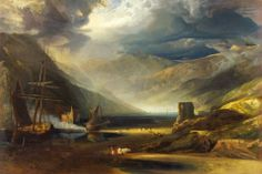 Anthony Vandyke Copley Fielding, A Scene on the Coast, Merionethshire – Storm Passing Off, 1818