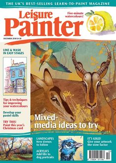 Leisure Painter and The Artist UK magazines Painting Lessons, Painting & Drawing, The Artist Magazine, Art Tutor, Uk Magazines, Learning Objectives, Learn To Paint, Easy Workouts, Magazine Design