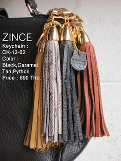 Keychain  Code : CK-12-02  Color : black , tan , caramel , python  Price : 690 thb.  Now available at Zince @ K-village Sukhumvit 26  / For more information pls follow the link zinceshop.com or facebook/zince  or email : zinceshop@hotmail.com
