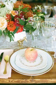 Sweet as a peach: http://www.stylemepretty.com/2016/06/22/whimsical-new-england-barn-wedding/   Photography:White Loft Studio - http://whiteloftstudio.com/