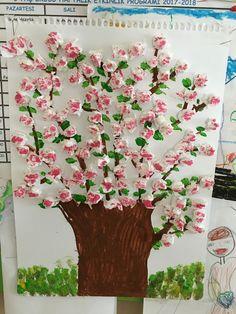 Spring Crafts For Kids Diy For Kids Jar Art Spring Art Art School Art Activities Preschool Crafts Art Lessons Art Projects Valentine Crafts For Kids, Spring Crafts For Kids, Art For Kids, Cherry Blossom Art, Diy And Crafts, Paper Crafts, Spring Art, Art Plastique, Art Activities
