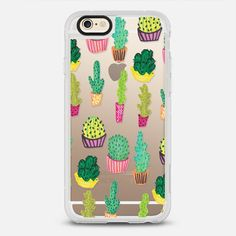Cactus Cacti Plant - New Standard iPhone 6 Case in Clear and Clear by @vasaree | @casetify