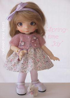 """""""Springtime Joy"""", a hand made ensemble made for Linda Macario's BJD Penny, cindyricedesigns.com"""