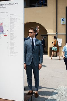 Pitti via. MenInThisTown. We love the style!