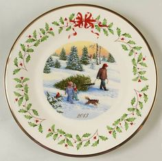 Lenox ChinaHoliday Annual Christmas Plate at Replacements, Ltd