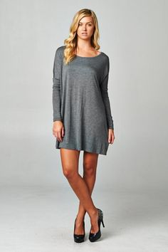 Tilly Tunic - Charcoal
