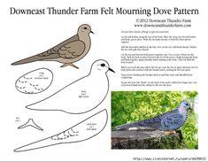 Mourning Dove Applique