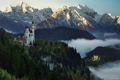 "<a href=""http://instagram.com/kilianschoenberger/"">@kilianschoenberger I N S T A G R A M</a>  The two fairytale castles Neuschwanstein & Hohenschwangau, Füssen, Allgäu, Bavaria, Germany  <a href=""https://www.facebook.com/pages/Landscape-Photography-by-Kilian-Schoenberger/304631876263547"">L A N D S C A P E   P H O T O G R A P H Y facebook</a>"