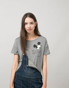 BSK Mickey Mouse pocket T-shirt - null - Bershka United Kingdom
