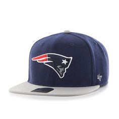 New England Patriots Super Shot Two Tone Captain Light Navy 47 Brand  Adjustable Hat ab141d73e
