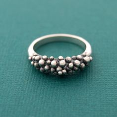 Caviar ring - Made to order in your size - sterling silver cast ring
