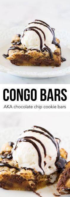 Congo bars AKA choco Congo bars AKA chocolate cookie bars...  Congo bars AKA choco Congo bars AKA chocolate cookie bars recipeso yummy with ice cream on top! My husbands favorite dessert! Recipe : http://ift.tt/1hGiZgA And @ItsNutella  http://ift.tt/2v8iUYW