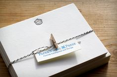 tinkeringmonkey:    Thanks to Elizabeth of PaperWheel Press for the beautiful letter pressed cards! The are stunning.