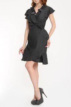 Wrap Dress In Black.