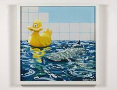 Banksy:Rubber Ducky Damien Hirst, London Art, Banksy, Contemporary Artists, Kids Rugs, Gallery, Kid Friendly Rugs, Roof Rack, Nursery Rugs