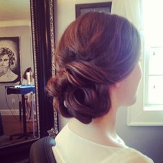 Wedding hair, classic bridal hair, chignon, side bun, ash and co, charleston sc