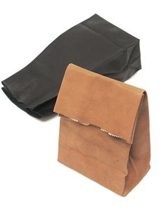 MASTER & Co. Paperbag Styled Leather Clutch