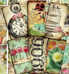 vintage designs Digital Collage