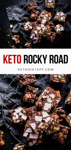 A classic rocky road recipe made with low-carb graham crackers, sugar-free marshmallows, buttery macadamia nuts and rich and creamy dark chocolate. #keto #lowcarb #dessert #paleo #fatbombs #holidays Dairy Free Keto Recipes, Low Carb Recipes, Whole Food Recipes, Sugar Free Desserts, Keto Desserts, Recipes With Marshmallows, Keto Food List, Paleo Treats, Rocky Road