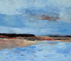 Der Angermunder See am frühen Morgen / 60 x 70 cm / Öl auf Leinwand / 2016 /  Detlev Foth