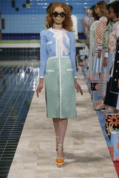 FROM THOM BROWNE OFFICIAL WEBSITE: RUNWAY WOMENS S/S17 LOOK 3