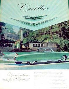50s car ads | An here's some old print ads from '50s and '60s magazines (click ...