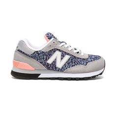 New Balance 515 Summer Safari Sneaker Shoes ($70) ❤ liked on Polyvore featuring shoes, sneakers, rubber sole shoes, lace up sneakers, summer shoes, new balance trainers and laced shoes