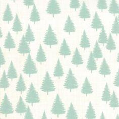 Tissu Winterberry D Forest Mint x 10cm