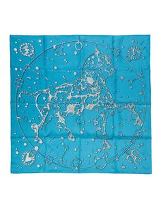 """""""Cheval Fusion"""" Silk Scarf, 36"""" x 36"""" from Vintage Hermès Silk Scarves & More: From $100 on Gilt"""
